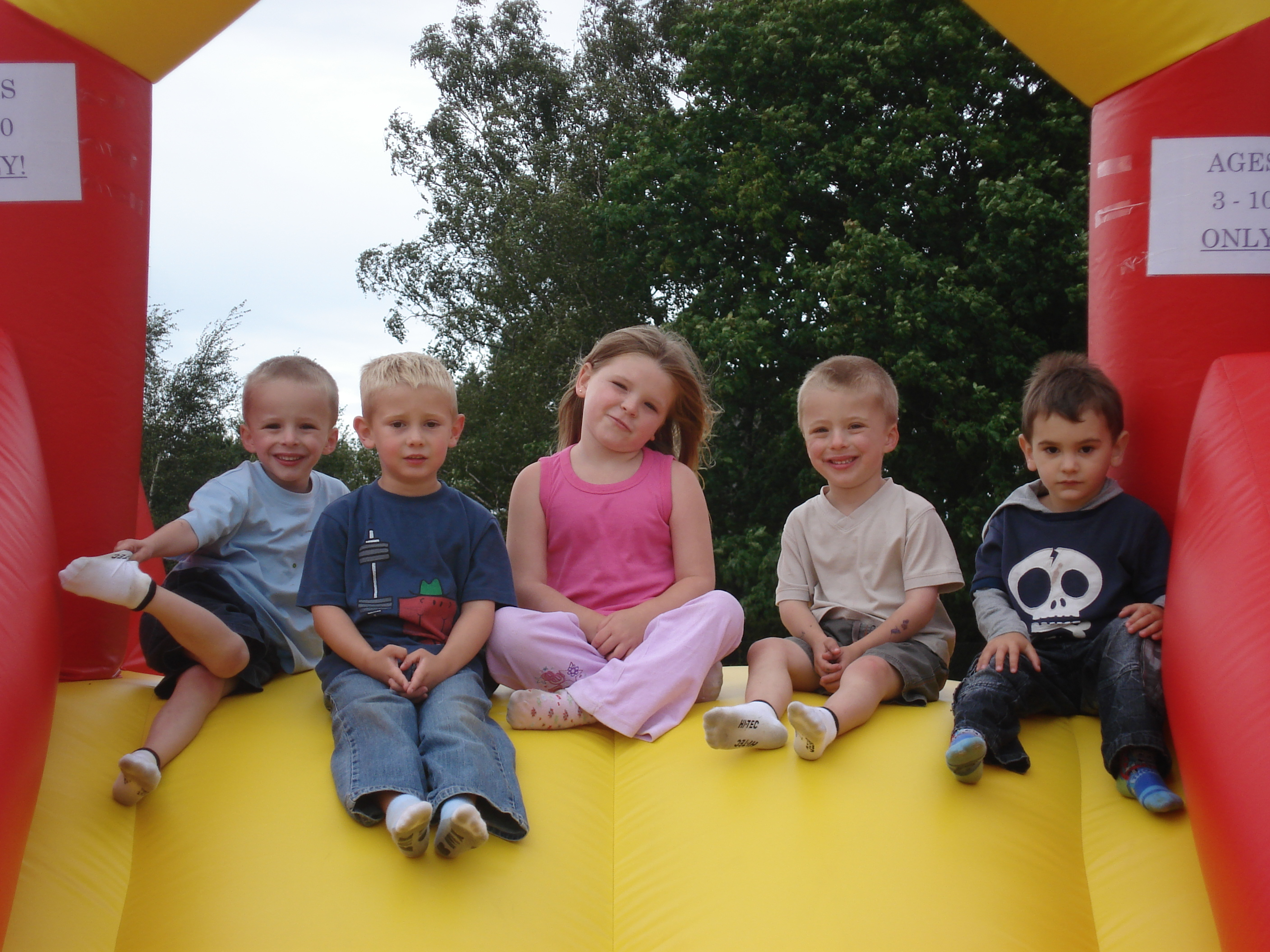 Kids on Inflatable